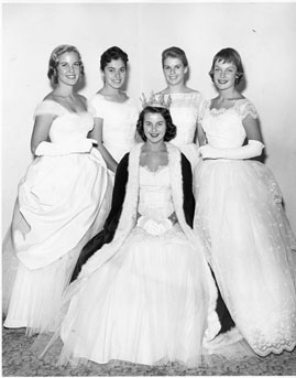Homecoming queens and princessess, 1957-1958