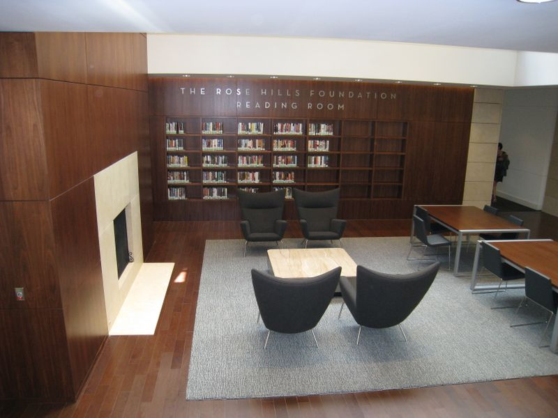 Popular Reading Collection and Fireplace