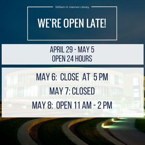 Spring 2016 Finals Hours
