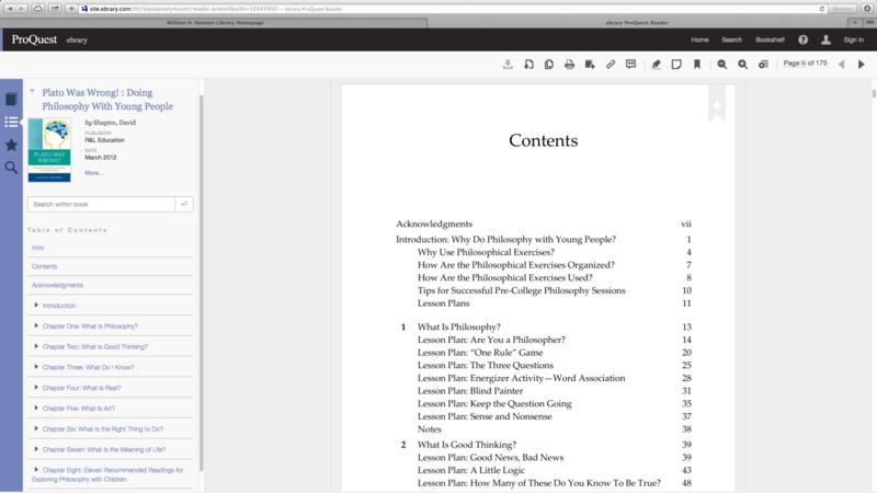 ProQuest Ebook Reader