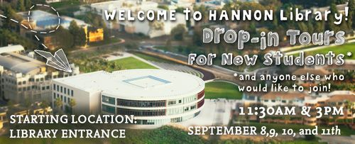 Library Drop-in Tours Fall 2015