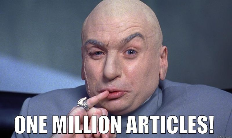 One million articles