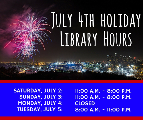 July 4th 2016 Library Hours